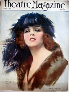 "* Sporting Vintage April 1921 ""theatre Magazine"" W/ Anita Stewart Pictured On Cover n"