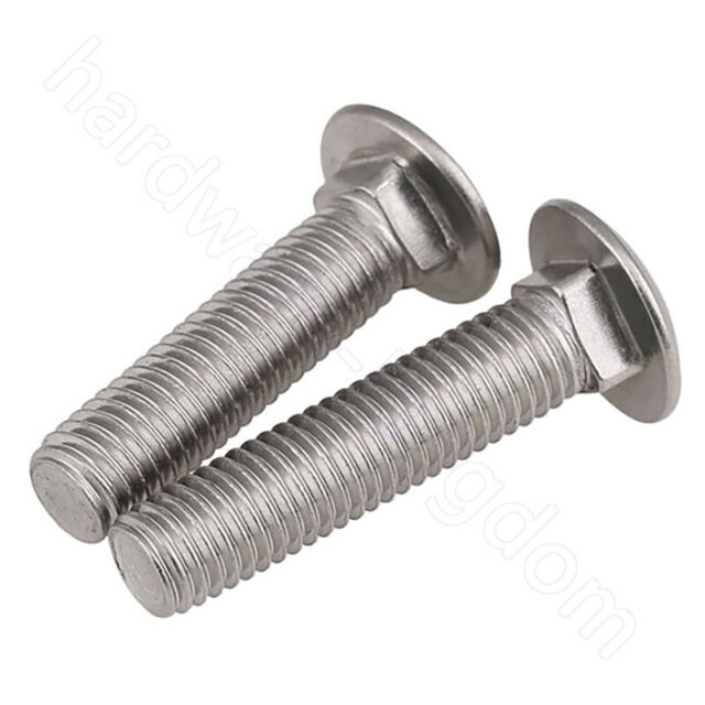 M5 M6 M8 M10 A2 STAINLESS STEEL CUP SQUARE CARRIAGE BOLT DOME COACH SCREWS