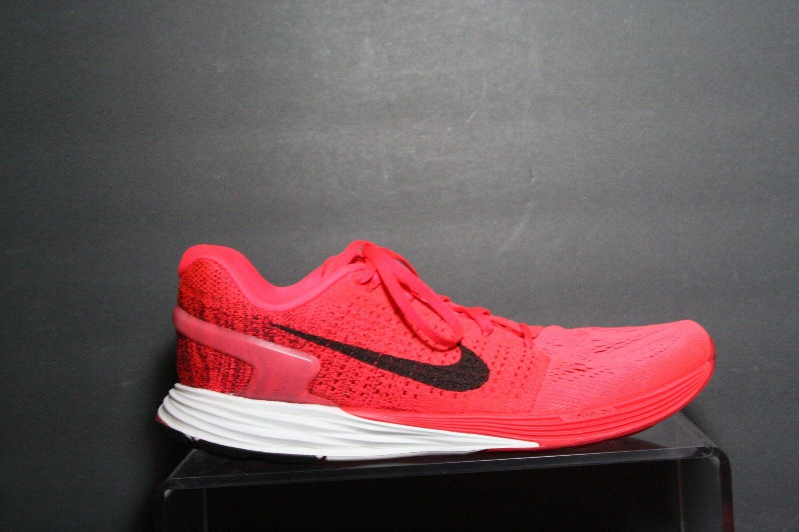 Nike Lunarglide VII 7 Running Sneaker '15 Athletic Multi Citrus Crimson Men 11.5