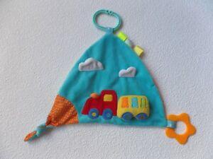 Baby Liefern Schmusetuch Bieco In Orange Grün Blau Auto Wohnwagen Schnuffeltuch Kuscheltuch * Spielzeug