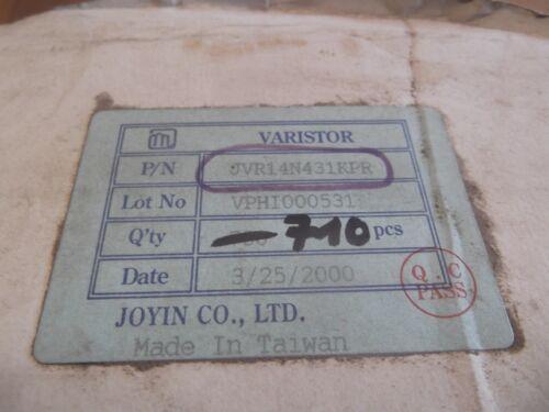 1 Stück Varistor JVR14N431KPR