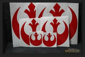 Two Star Wars Rebel Insignia Decal 3 sizes and Various colours available