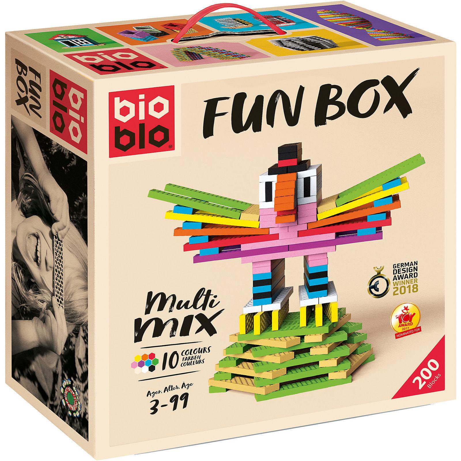 BIOBLO FUN BOX MULTI MIX - 200 BIO BLO  STEINE SPIEL - PIATNIK 64024   NEU OVP
