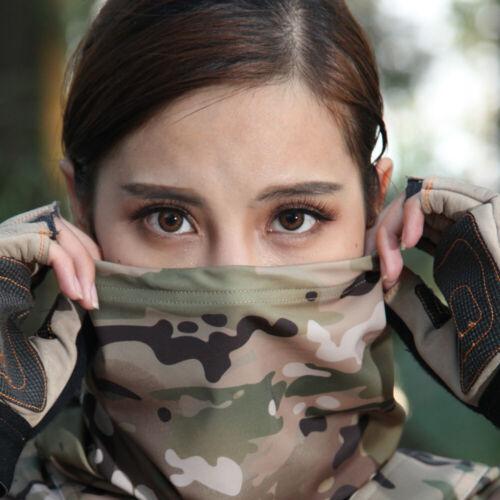 Bandana Camo Windproof UV Protection Scarf Neck Gaiter Tube Headwear Face Cover