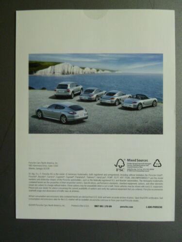 Turbo Cayman Boxster Panamera Cayenne Folder RARE!! 2009 Porsche Full Line 911