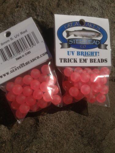 Trick EM Poisson Perles Super UV ROUGE 8 mm Pack de 1