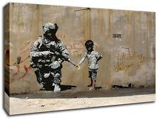 BANKSY WAR PALESTINE CANVAS ART PICTURE HUGE A1 SIZE 32 X 22 NEW