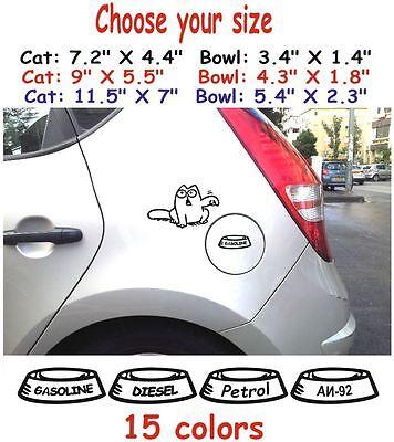Simons cat #1 Funny Gas Fuel Tank Decals Stickers Graphics Vinyl Car Animals I