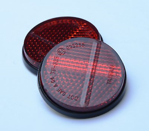 40mm-REAR-RED-ROUND-STICK-ON-SELF-ADHESIVE-REFLECTOR-CAR-MOTORCYCLE-MOTORBIKE