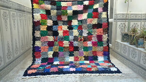 Vintage-Beni-Ourain-Rug-Moroccan-Boucherouite-Area-Rug-Handmade-Rug-Carpet