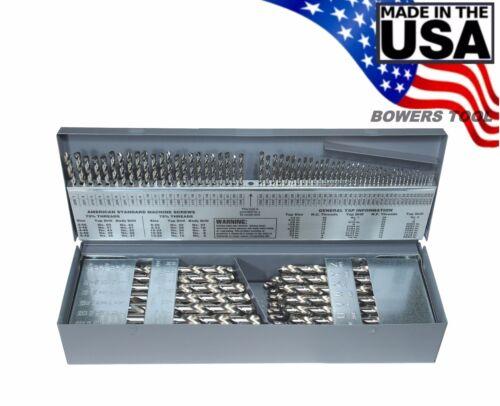 """Norseman 115 PC M7 Clair Drill Bit Set Numéro Lettre 1//16/"""" à 1//2/"""" USA J-115"""