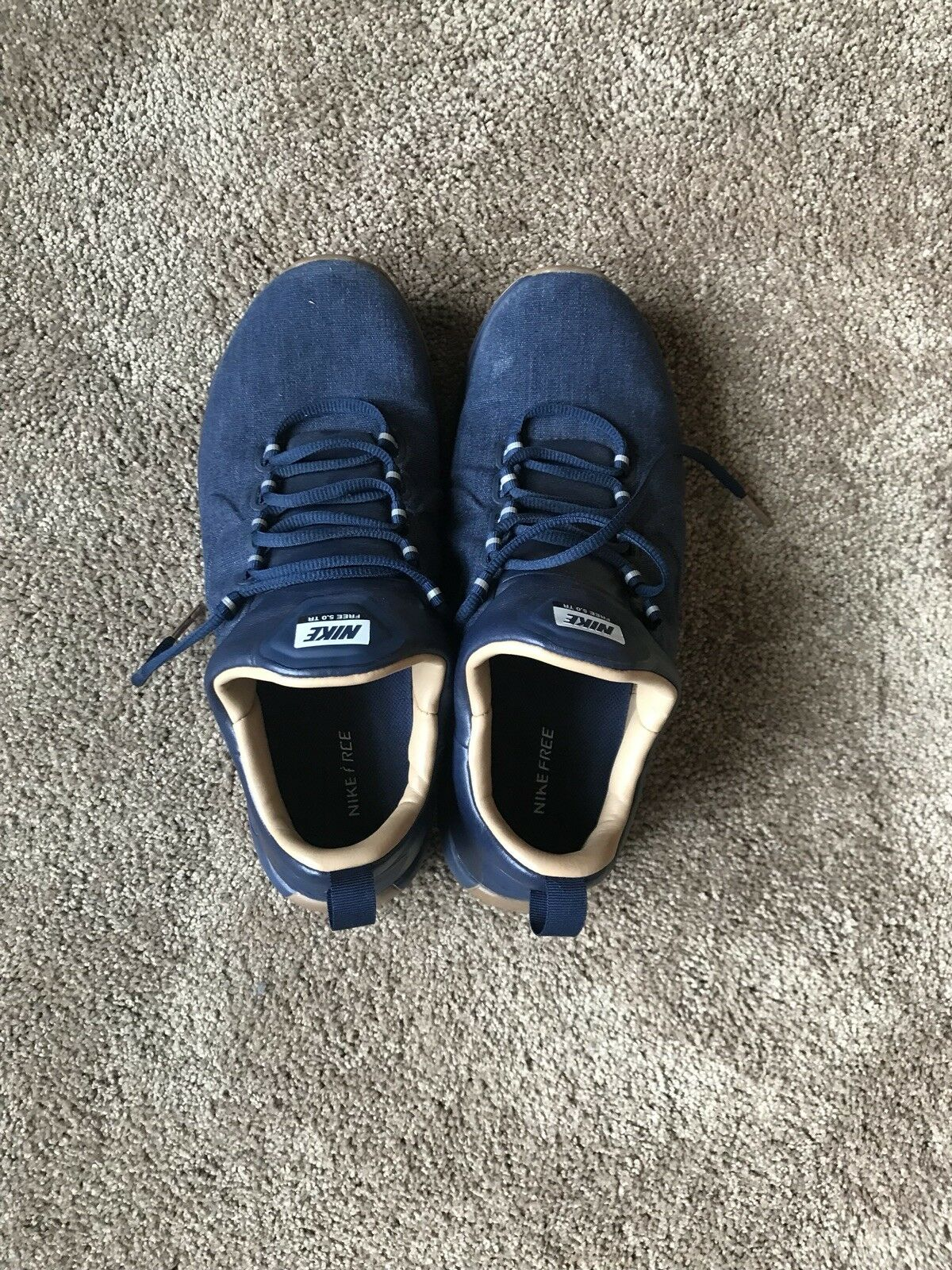 New shoes for men and women, limited time discount Nike Free 5.0 Denim Navy Blue Shoes Sz. 10.5