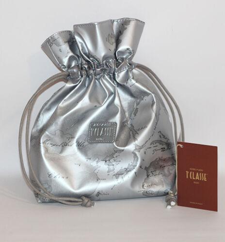 Prima 1 Classe borsa mano pochette argento silver grigio Alviero Martini GEO sac