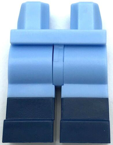 Lego New Minifigure Bright Light Blue Hips Legs with Dark Blue Boots Pants