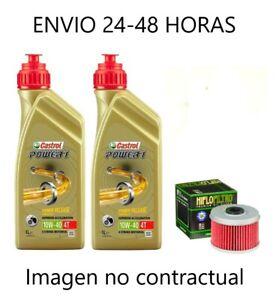 Aceite moto castrol 10w40 2 litros power1 filtro ktm rc 125 2017-2019