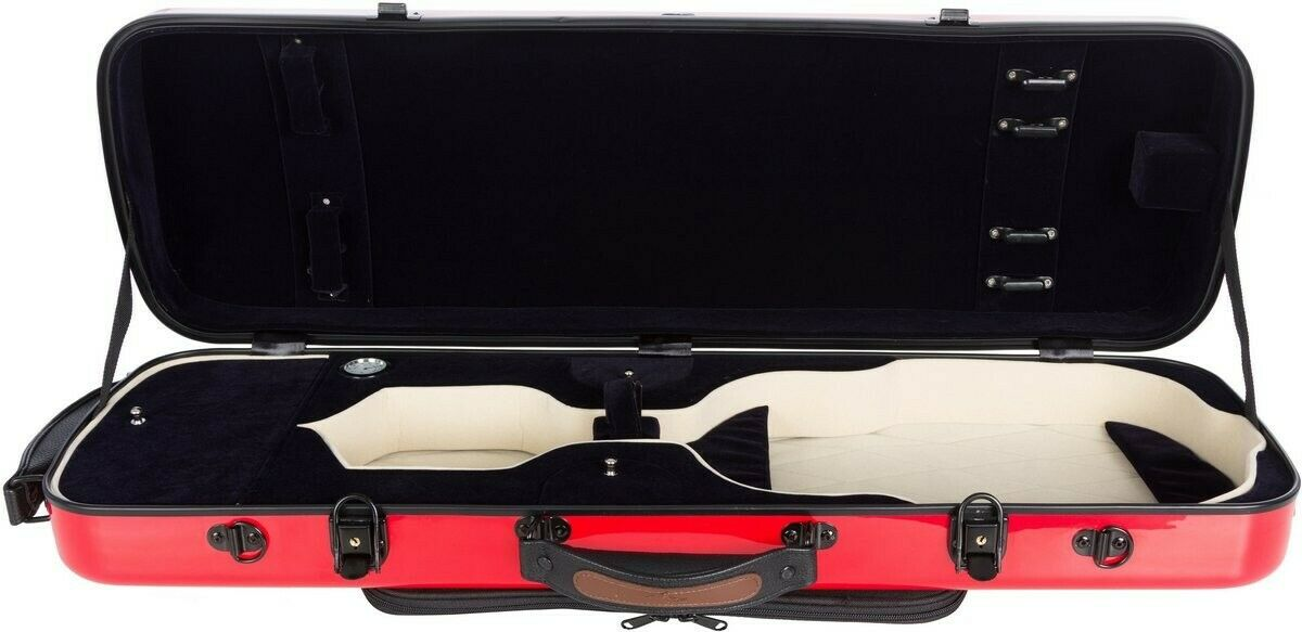 Oblong violin case Fiberglass Oblong 4 4 M-case rot - Navy Blau