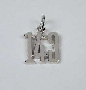 Sterling-Silver-Large-143-Charm-I-Love-You-Lobster-Claw-Free-U-S-Shipping