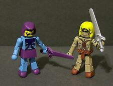 Custom minimates of  HE-MAN and SKELETOR   from MOTU