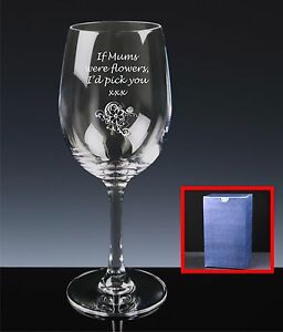 8be532baa2a Personalised Red Wine Glass, Mother's Day, If Mums Were Flowers I'd ...