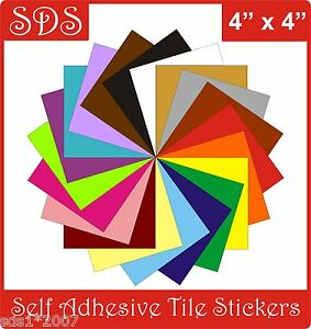 """4"""" Tile stickers self adhesive transfers packs of  5, 10,20,30,40,50 easy apply"""