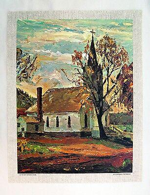 Autumn Splendor by Elizabeth Carmel Art Print Watermill Landscape Poster 32x26