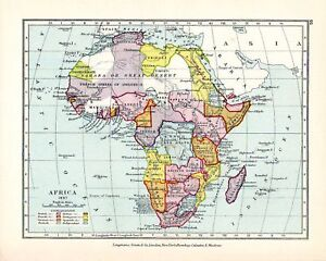Victorian map africa in 1897 congo free state etc ebay image is loading victorian map africa in 1897 congo free state ccuart Image collections