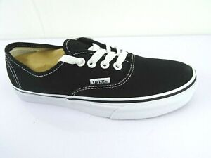 Details about Vans Authentic Black Black Shoes Trainers Classic Skater Casual Loafers show original title
