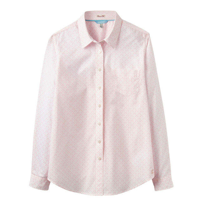 Joules Womens//Ladies Lucieprint Printed Loose Fit Classic Casual Shirt