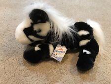 """12 """"braun Flopsie Butterscotch Pferdestofftier Horse Soft Plush Toy Aurora World"""