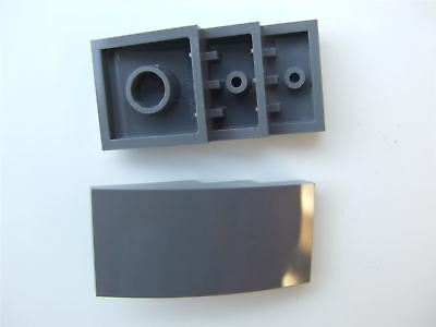 4567448 5 x Lego Grey Brick 2x2 with inside and outs bow Parts /& Pieces