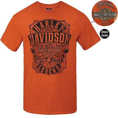 Harley Davidson Mens Snake Oil Orange T-Shirt Limited Edition Swansea