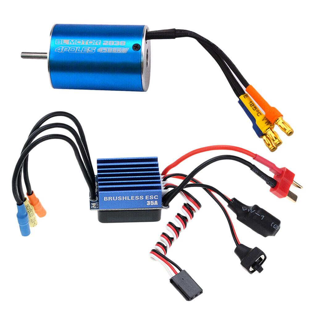 2838  4500kv Sensore Senza Spazzole senza motore con 35a ESC per 1 16 1 18 RC Auto  sconto online di vendita