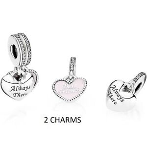 Details about NEW GENUINE PANDORA BEST FRIEND ALWAYS THERE HEART DANGLE  CHARM 791950CZ UK GIFT