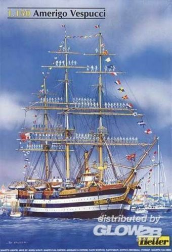 Heller Amerigo Vespucci 1931 Kit Model Set 1 150 Sailing Ship Glider 80807
