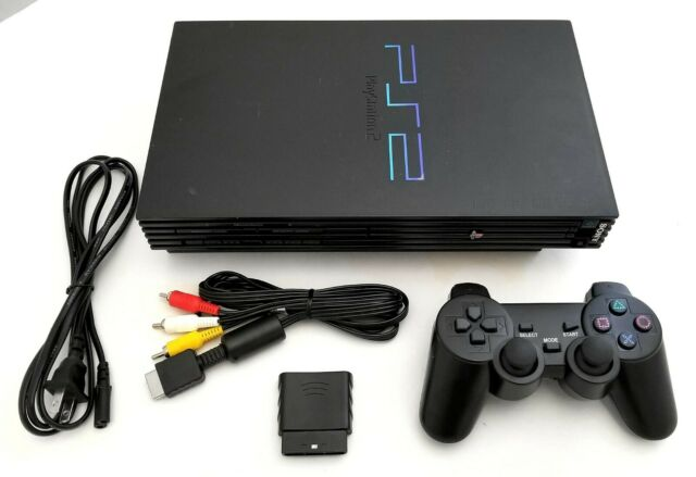 Boxed Sony Playstation 2 Slim Ps2 Black Console Controller Bundle Complete For Sale Online Ebay