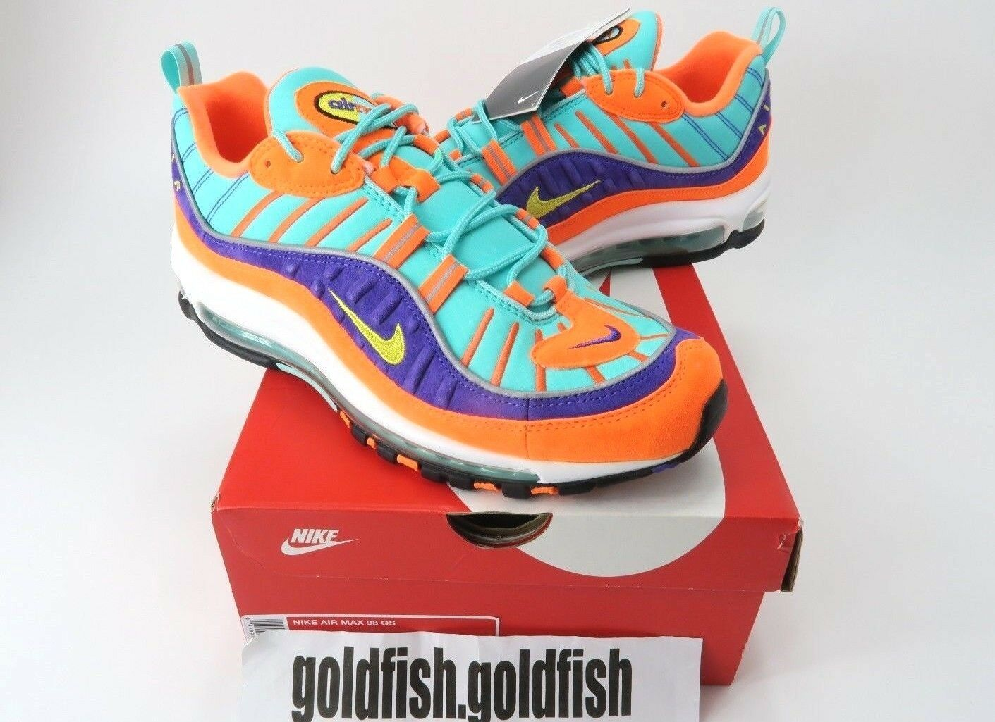 DS NIKE AIR MAX 98 924462 QS CONE HYPER GRAPE 924462 98 800 TOUR YELLOW ORANGE 2018 34bd60