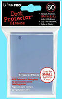 60 Ultra Pro DECK PROTECTOR Small CLEAR Card Sleeves 1 Pack Yugioh Size 82678 Toys