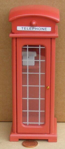 Adattabile 1:12 Scala Tradizionale Britannico Rosso Telefono Scatola Tumdee Bambole Casa