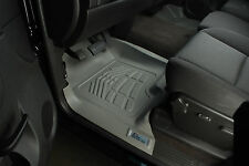 Ford F150 Reg Cab (1 Retention hook) 2009 - 2012 2pc Grey Front Floor Mats Liner