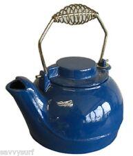 Cast Iron Enamel Kettle Blue Cast Iron Tea Pot Camping Kettle Barbeque Stove Pot