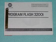 Manuale d'uso-Operating instructions-Minolta Flash 3200 i tedesco!!!