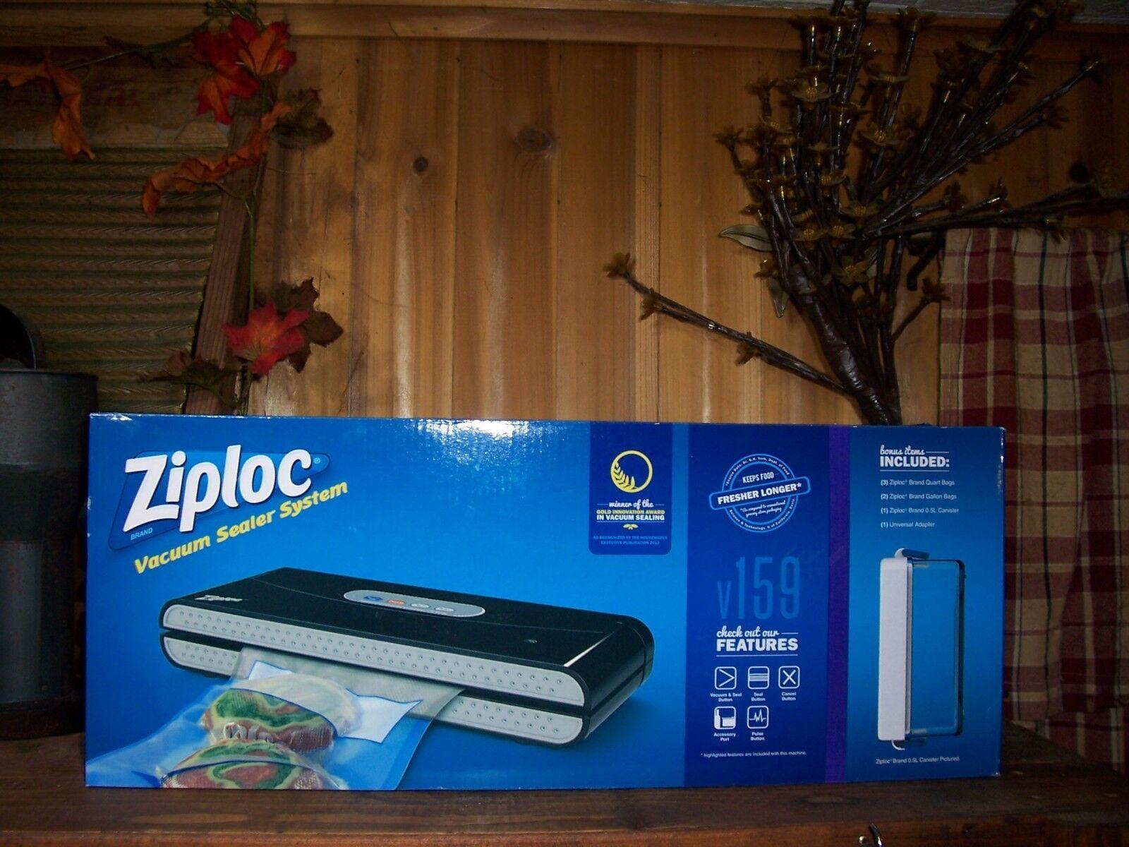 ZIPLOC scelleuse sous vide Système Avec Bonus objets accessoires de cuisine Food Saver NEUF