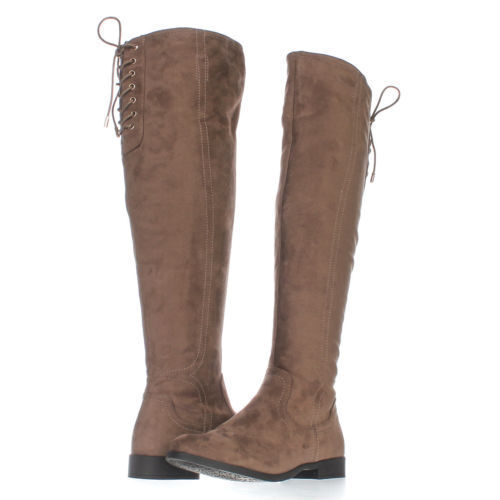size 8 XOXO Trishh2 Taupe Slouch Over Knee Boots Women's Shoes NEW