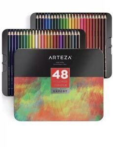 Arteza Colored Pencils Professional Set Of 48, Soft Wax ...