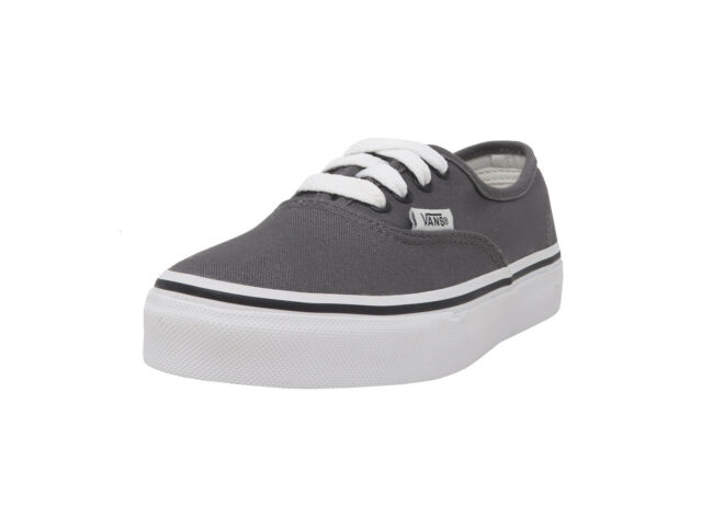 135d65b851 VANS Authentic Pewter Lace Up Canvas Youth School Kids Sneakers Girls Boys  Shoes