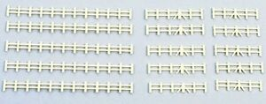 Farm Rail Fencing White - Kestrel Design GMKD13W - N plastic kit - free post F1