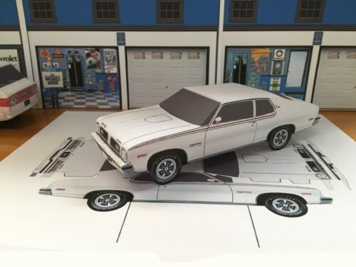 Papercraft 1pc U-make 1974 Pontiac GTO two door coupe paper model car Ventura