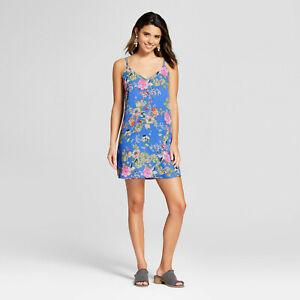 Juniors/' Women/'s Blue Shift Dress Xhilaration™ - Flower Print