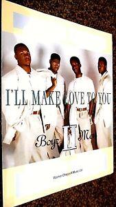BOYZ II MEN: I'LL MAKE LOVE TO YOU (SHEET MUSIC)