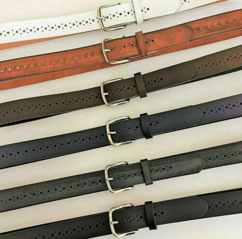Ledergürtel 3 cm durchgehend gelocht für Damen Herren 7 Farben  Gürtel   XS-XL